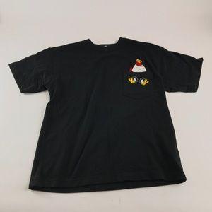 Vintage 1995 Warner Bros  Rooster Pocket  T-Shirt